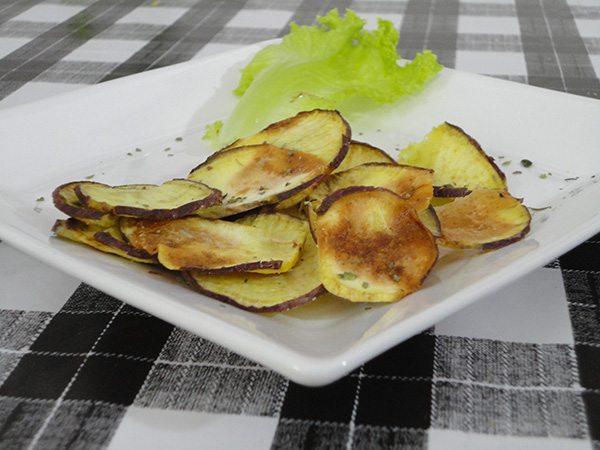 Batata Doce Chips Assada
