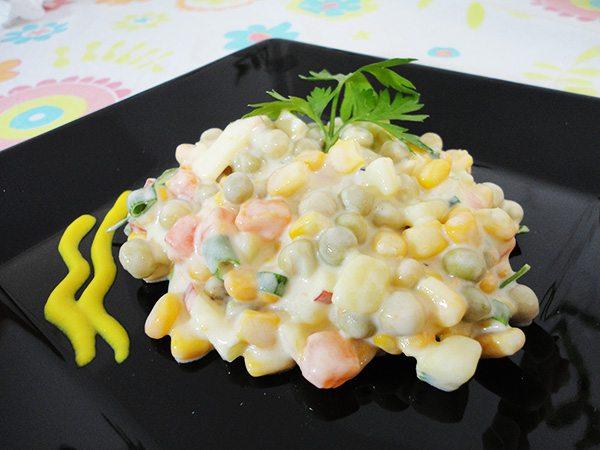 Salada rápida de maionese