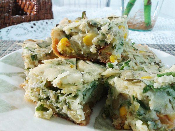 Torta rápida de legumes vegana